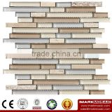 IMARK Mixed Color Crystal Glass Mosaic Tiles Mix Marble Mosaic Tiles for Wall Decoration Code IXGM8-109                                                                         Quality Choice