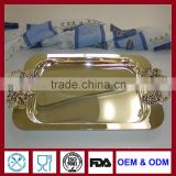 FDA silver plated trays rectangular trays for restaurant banquet hotel household and resale wholesale
