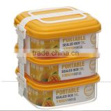 Compartment DIY Adjustable FDA Certificated Stacking Plastic Snap closure Food Container