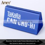 China gold supplier custom logo blue acrylic display holder