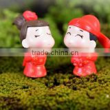 - french handmade - custom Romantic Couple Personalized craft & Gay wedding cake topper wholesale terrarium dashboard figurines