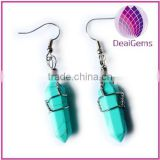 Wholesale point turquoise stone earring