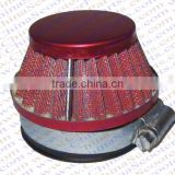 58MM Air filter Red Grid Red Cap Mini Moto Dirt Pit Bike ATV Quad Scooter Buggy Pocket Parts