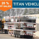 TITAN Brand 40ft 3 axle Cargo Fence Semi Trailer Flatbed Trailer for transport bulk cargo