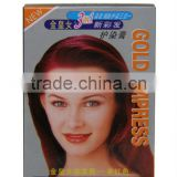 Herbal extract natural hair care hair dyeing shampoo names hair color brands wholesale