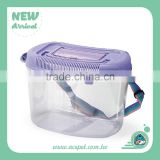 Transparent Plastic Small Travel Cages for Small Pet , Insect, and Fish box (L)