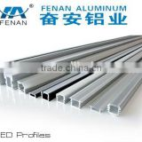Aluminum LED profiles for step lighting in cinema in black and silver color