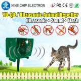 Outdoor solar ultrasonic pest bird repeller animal cat dog control mice rodent deterrent