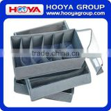 3 PCS no-woven high quality bamboo charcoal storage box with cups storage box