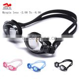 Professional customed anti-fog sports swim pool unisex best waterproof silicone adjustable swimming goggles with degree