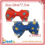 CF0321 Factory whlesale New designs Polka dot fabric bow for girl hair clip decoration.