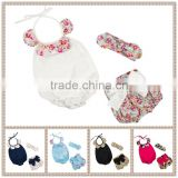 Factory supply baby romper set Wholesale kids cheap price garment boutique children girls summer clothing set