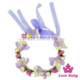 Lovely Fairy Girl Remake Floral Crown Flower Petals Garland Baby Wedding Headband Birthday Tiara For Kids