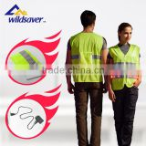 folded safety clothing ,reflective led traffic safety clothes with portable pocket