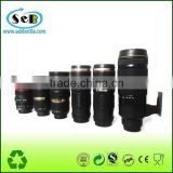 HOT sale stainless steel vacuum camera lens mug travel mug coffee mug with heating in car