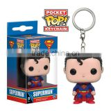 Funko POP Superman Figure Pendant Keyring Super Hero Cartoon Toys Anime Keychain