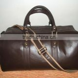 High quality Genuine cow Napa dark brown leather travel bag 2016