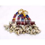 Fashion Women Key Chain Shell Beads Work Handmade 5 PC's Lot Craft Boho Tribal