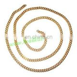 Gold Plated Metal Chain, size: 1x3.5mm, approx 39.2 meters in a Kg.
