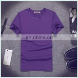 High Quality Crew Neck Shirt Top Fashion Short Sleeve Couple T shirt Latest Design Custom Round Neck T Shirt