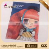 Lovely cartoon character design full color UV printing L clip plastic clear file folder PP