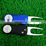 2017 stock custom logo rotatable and foldable golf pitch forks
