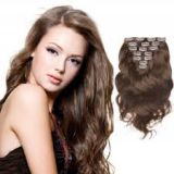 Natural Black Clip In Hair 10-32inch Extension Natural Real  20 Inches Shedding free