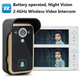 CE certification Battery operated night vision long range wireless doorbell TL-A700A