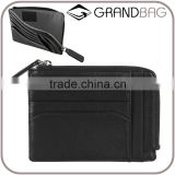 black soft calf leather business card holder credit card wallet change bag for men