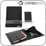 Genuine leather travel passport holder leather credit card holder