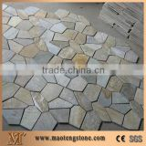 Yellow Quartzite Flagstone Patio Flooring Pavers