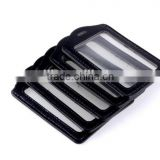 Black Faux Leather Business ID Credit Card Badge Holder Clear Pouch Case