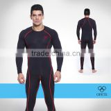 (OEM/ODM Factory)long sleeve flat lock wholesale athletic wear mens t shirt elastane compression wear