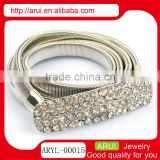 China supplier silver pave diamond body belly chain waist chain