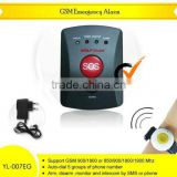 New Quad band Emergency wireless sim card alarm system with call button for elderly(YL007EG)