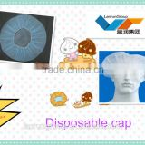 Disposable surgical nonwoven bouffant cap