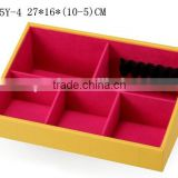 W1275Y-4 Wholesale Alibaba Slope Style Cosmetic Storage Box Stackable Wooden Jewelry Display