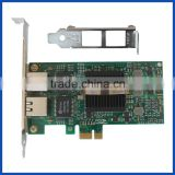 Desktop server PCI express x1 to 2port 10/100/1000Mbps 1G Gigabit internet RJ45 lan adapter card
