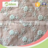 Beautiful white color lace with flower decoration embroidery lace curtain fabric                                                                                                         Supplier's Choice