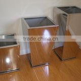 Decorative Tapered Stainless Steel 1.2MM Thick Wholesale Bonsai Pots In Mirror Finishing