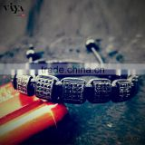 high end beaded jewelry square logo beads energy profational bracelet knotted hand making bracelet