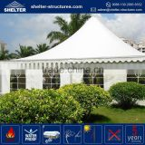 Heavy duty promotional maximum wind loading 100km/h(0.5kn/sqm) garden gazebos hard top pagoda tent clear roof chapiteaux tentes