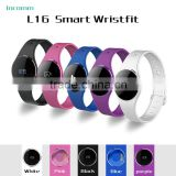 CE Rohs Certificate L16 Smart Bluetooth Touch Screen Waterproof Sport Fitness Tracker Wristband Bluetooth Watch
