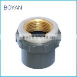 Suppliers In China BOYAN PVC CPVC ASTM SCH80 Pipe Fitting Copper Thread Adapter With Brass Female Hydraulic Shaft Coupling