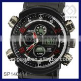 MILITARY Mens LCD Digital Analog Quartz Sport Watch Stainless Steel case watch