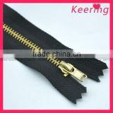 wholesale gold metal zipper for garment WZP-056                                                                         Quality Choice