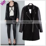 Leather Sleeve trench coat Women Winter Jacket                                                                         Quality Choice                                                     Most Popular