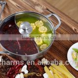 S shape hot pot for gas stove