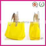 Causual candy color neoprene hand bag for college girls