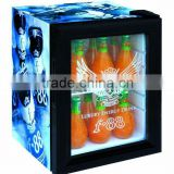 21L mini bar fridge, glass door beer cooler,compressor